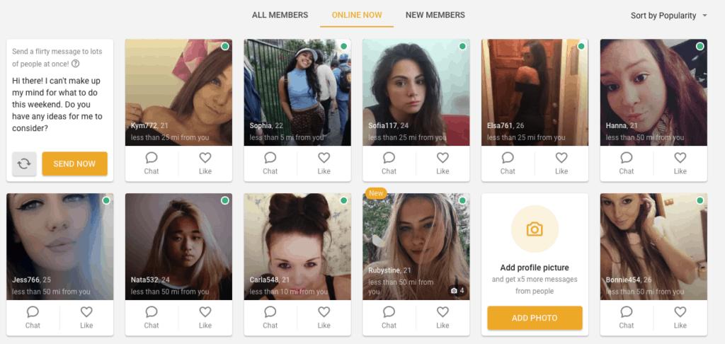 members online now on one night friend