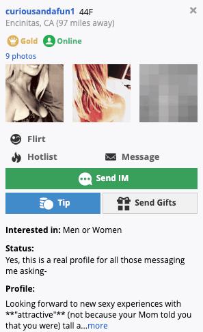 member profile on passion.com