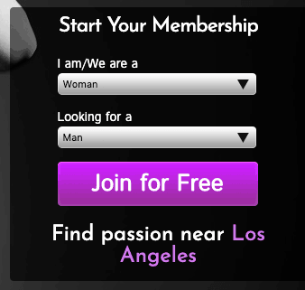 signup page for passion.com