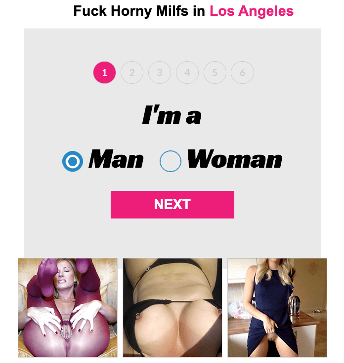 signup page for milf play