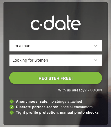signing up page to c-date