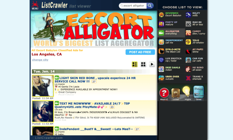 home page for listcrawler.com