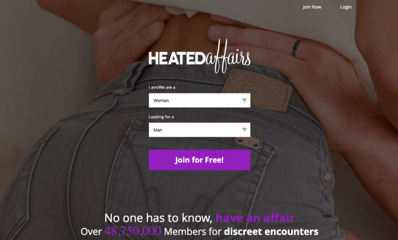 home page of heated affairs