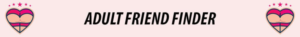 adult friend finder logo with pink background