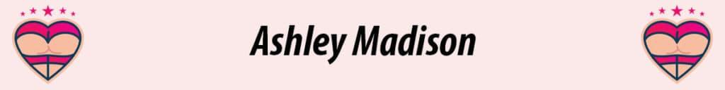 ashley madison logo with pink background