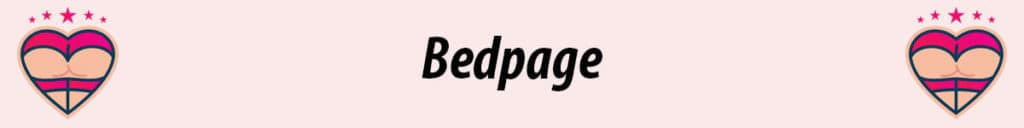 bedpage logo in pink