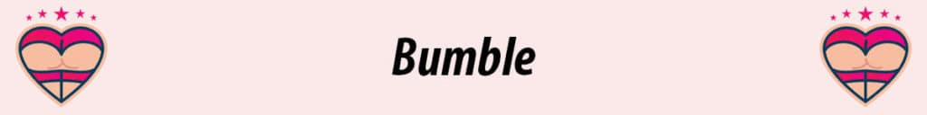 bumble logo with pink background