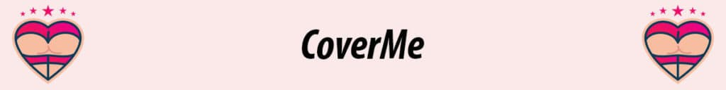 coverme logo with pink background
