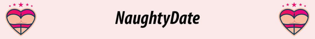 naughtydate logo with pink background