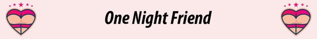 one night friend logo in pink background