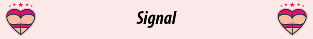signal logo with pink background