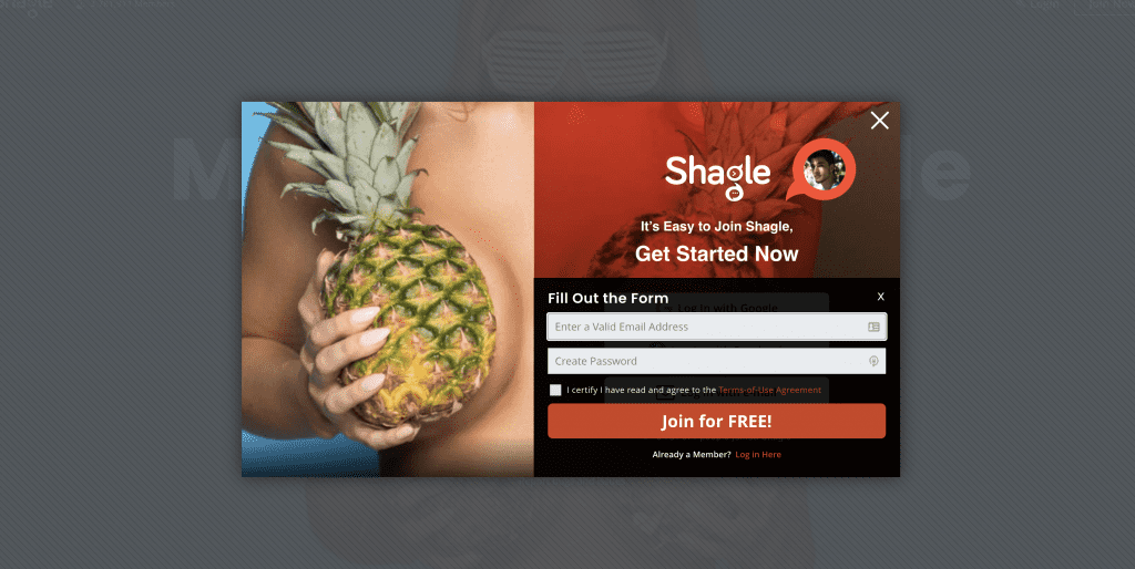 shagle dating site sign up form using email